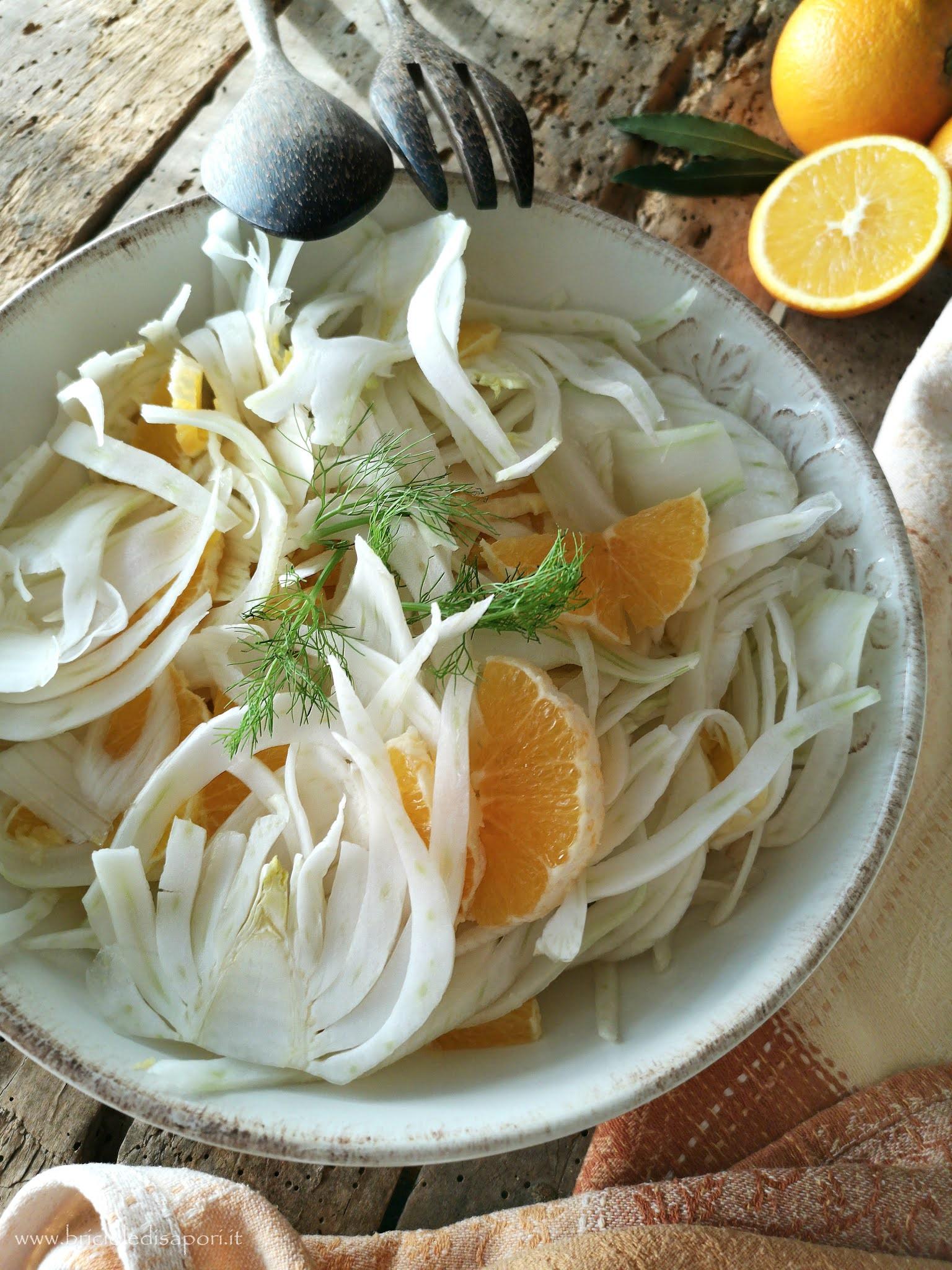 finocchi con arance all'aceto balsamico tradizionale