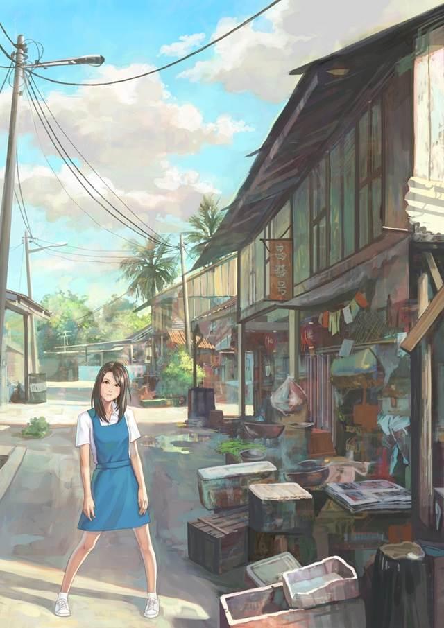 village school girl manga