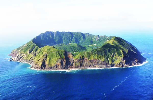 The Beauty Of The Aogashima Island In The Volcanic Caldera