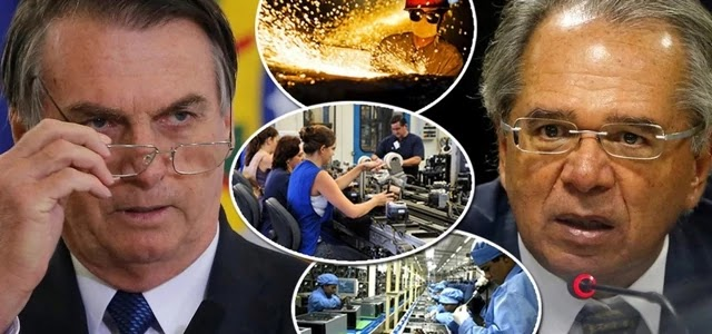 Indústria Brasileira desaba
