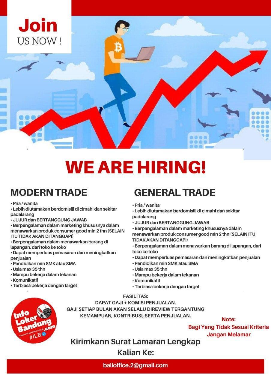 Lowongan Kerja Modern Trade & General Trade PT. Tamba Sanjiwani Juli 2020