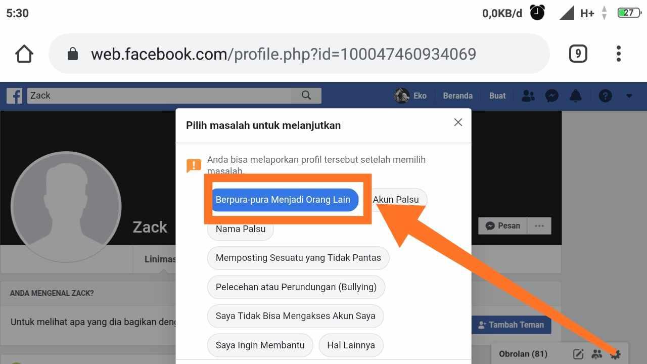 Pengumuman FB di hack