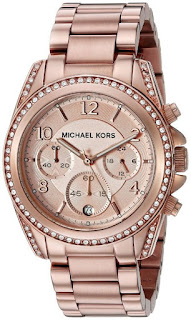 MICHAEL KORS Blair Rose Gold-Tone Chronograph Ladies MK5263
