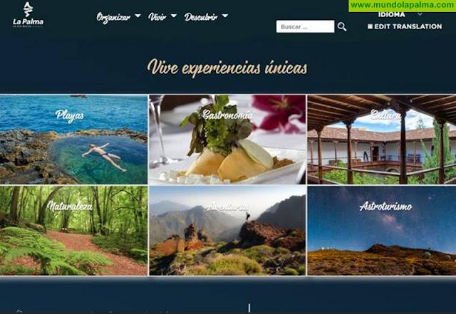 Turismo La Palma estrena una nueva web más visual e intuitiva para atraer al viajero digital