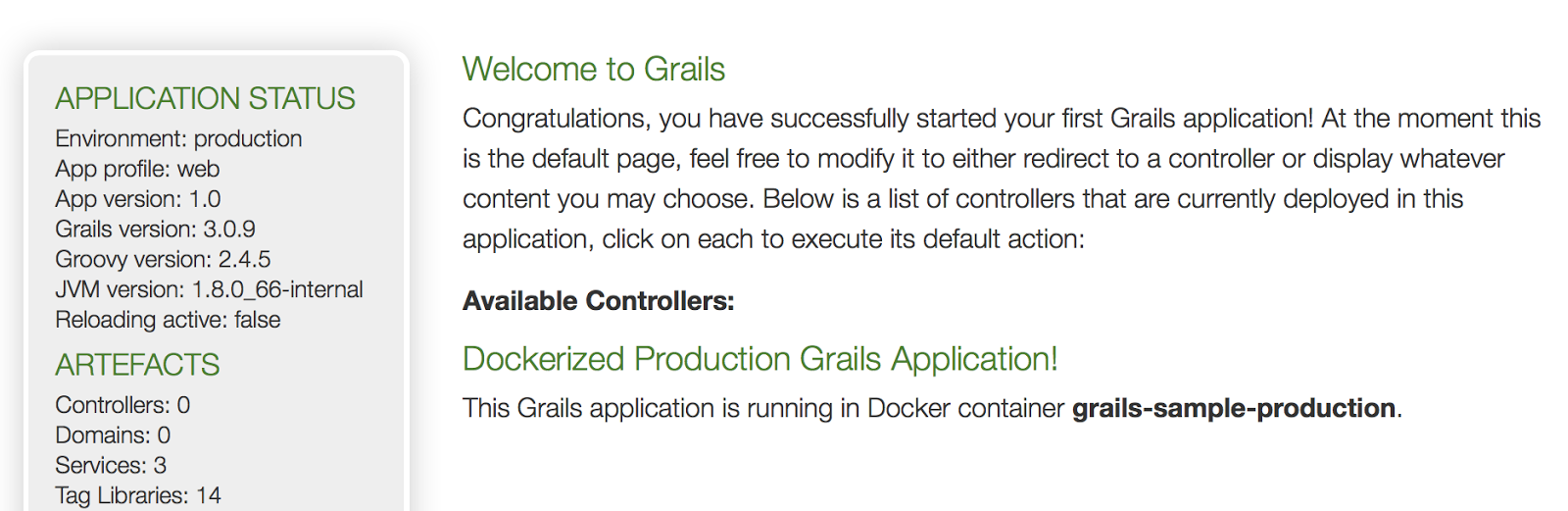 Grails Goodness: Run Grails Application As Docker Container