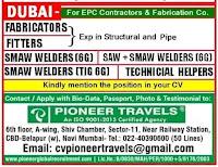 EPC Contractors & Fabrication Company Vacancies