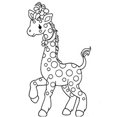Cute Baby Giraffe Coloring Pages For Kids Images