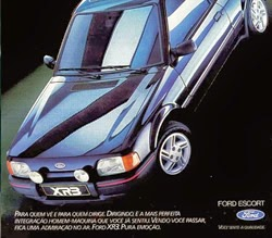 Propaganda do Escort (Ford) em 1988.