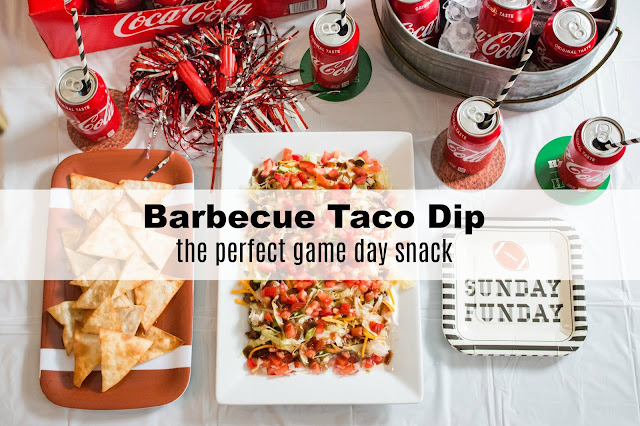easy game day snack recipe, BBQ taco dip, #kickoffwithgreattaste #shop #collectivebias