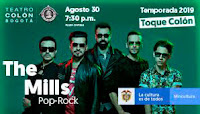 Concierto de THE MILLS en Teatro Colon 2019