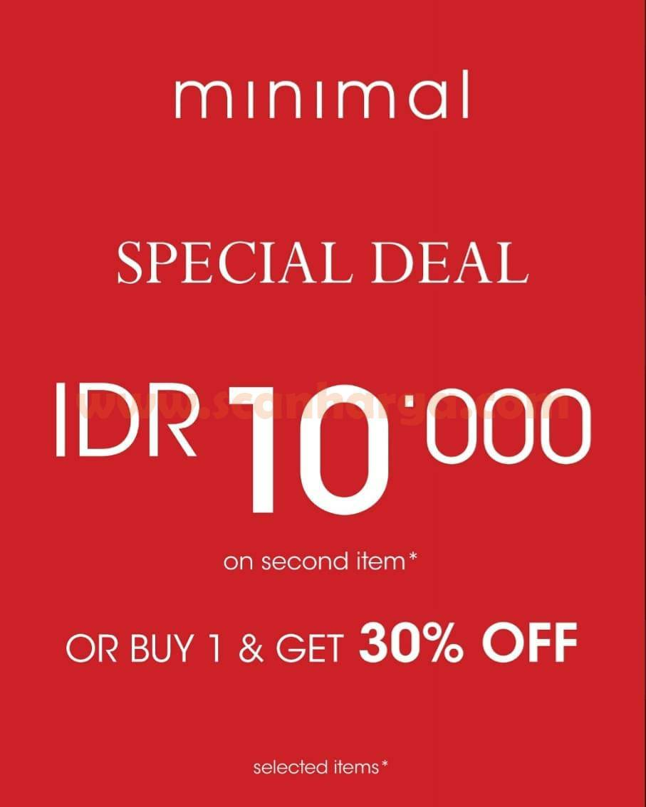 Promo Minimal Special Deal! IDR 10,000 on second item or buy 1 & Get 30% OFF