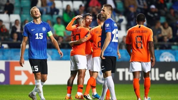 Hasil Kualifikasi Piala Eropa: Belanda Gulung Estonia 4-0
