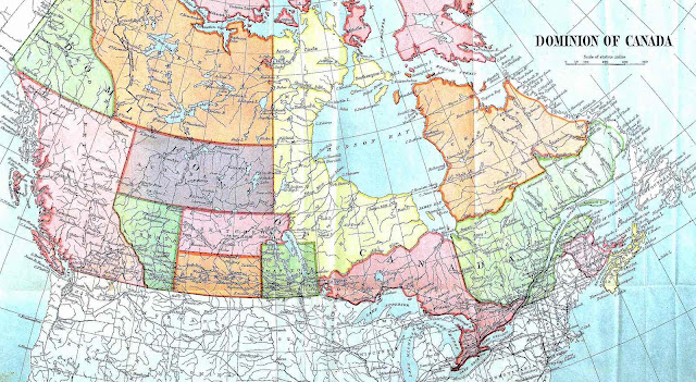 a 1901 map of Canada