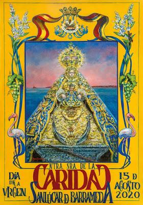 Nuria Barrera presenta el Cartel del Día de la Virgen en Sanlúcar de Barrameda (Cádiz)