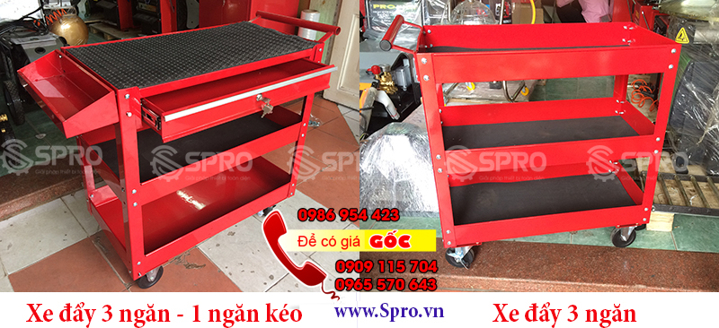 Tủ đồ nghề 3 ngăn, tủ kéo 3 ngăn đựng dụng cụ giá rẻ tp HCM