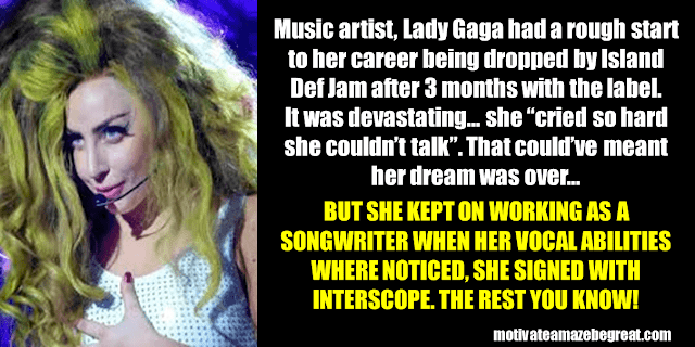 Success Stories From Famous People Who Failed Before Succeeding: Lady Gaga