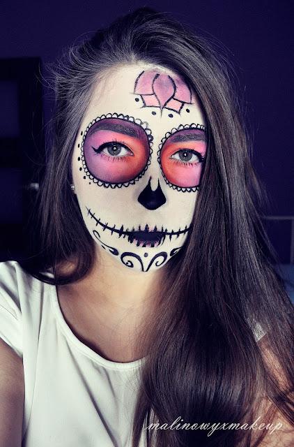 dia de los muertos sugar skull halloween charakteryzacja