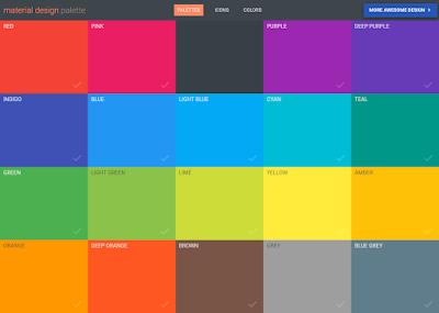 موقع Material Design Palette