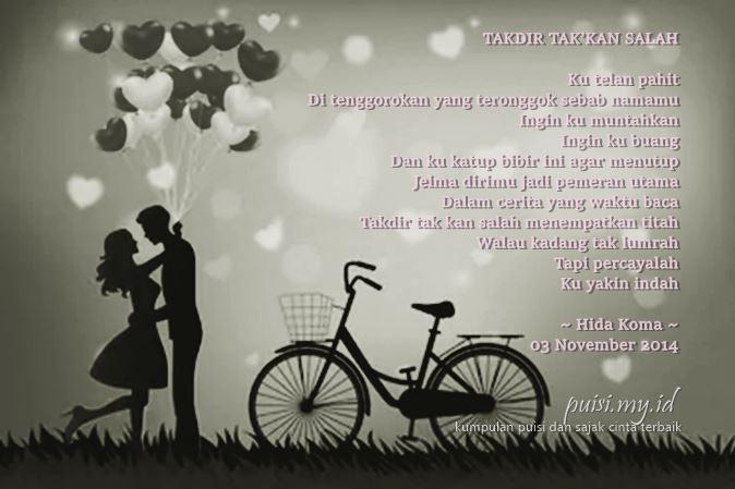 Contoh puisi cinta romantis karya dari Hida Koma