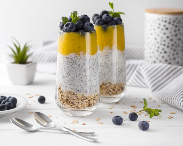 mixture-blueberries-mango-mousee-dessert