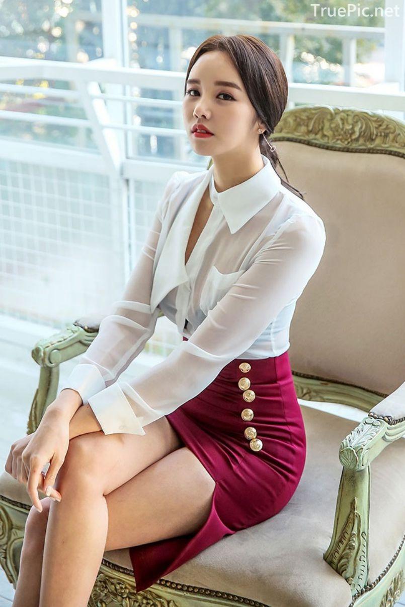 Korean Fashion Model - Chloe Kim - Indoor Photoshoot Collection - TruePic.net - Picture 1