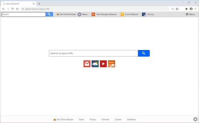 Search.getrecipesonlinetab1.com (Hijacker)