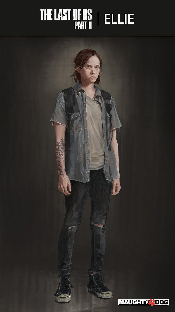 Naughty Dog mostra Ellie e sua tatuagem em The Last of Us Part 2.