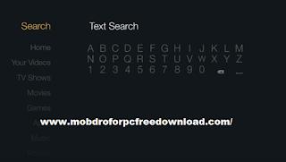 Go To search box in Amazon Firestick