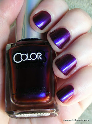 Swatch of Color Club Oil Slick collection:We'll Never Be Royals