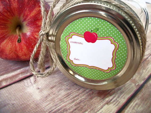 Cute Apple Canning Jar Labels