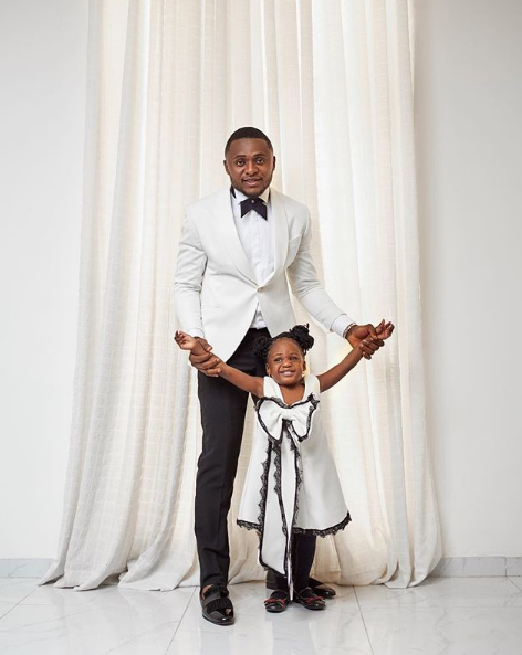 Ubi Franklin releases beautiful Christmas photos with his kids