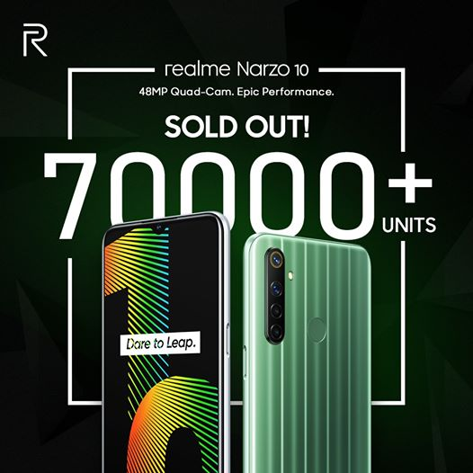 Realme sold 70000+ units of Narzo 10 in just 3 minutes