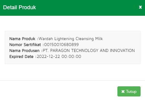 Halal MUI Wardah Lightening Cleanser Milk kemasan baru