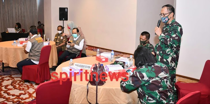 Perwira Ahli Bid. Jemen Sishanneg Pangdam XIV/Hasanuddin Hadiri Diskusi dan Tatap Muka dengan Duta Covid-19 Sulsel