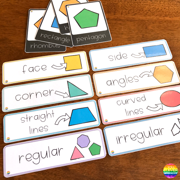 2D Shape Poster and Word Wall Cards | you clever monkey