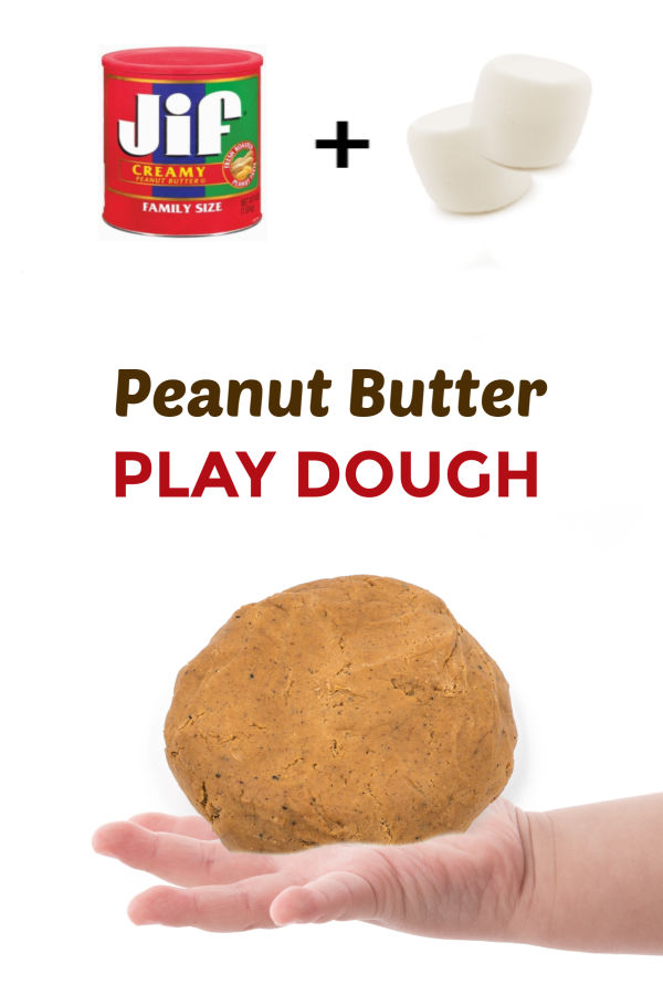 This play dough for kids is made using peanut butter and marshmallows! The recipe is SO easy, and the dough is taste-safe, making it great for kids of all ages! #playdough #playdoughrecipe #edibleplaydough #peanutbutterplaydough #peanutbutterplaydoughrecipe #marshmallowplaydough #tastesafeplaydough