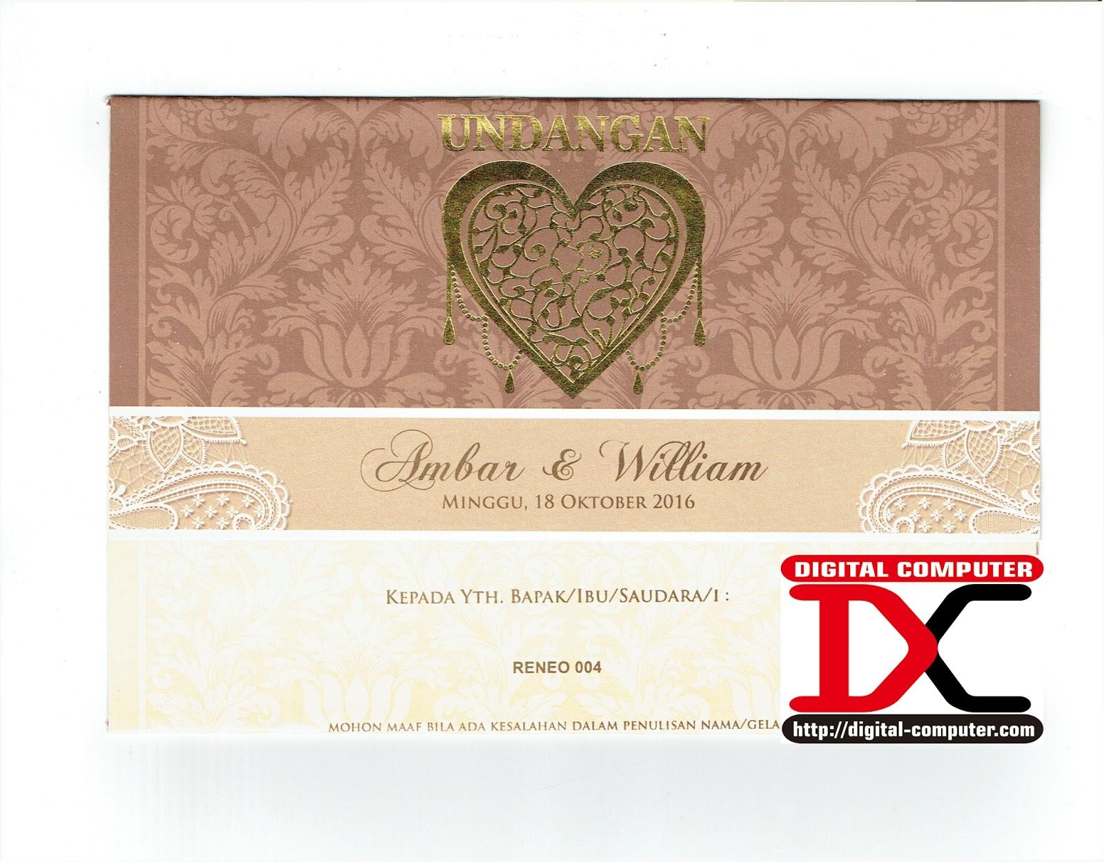 undangan pernikahan harga 2200