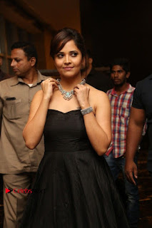 Telugu Anchor Actress Anasuya Bharadwa Stills in Strap Less Black Long Dress at Winner Pre Release Function  0040.jpg