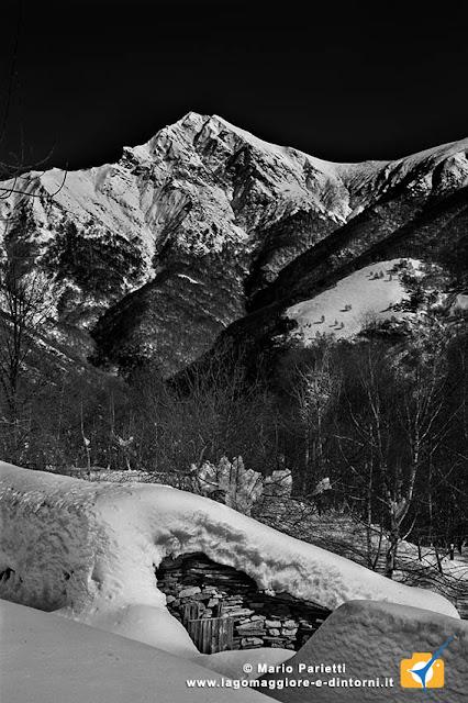 Valle Veddasca con la neve, monte Tanaro