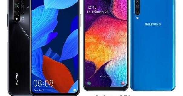 Huawei nova 5T Vs Samsung Galaxy A50 Specs Comparison