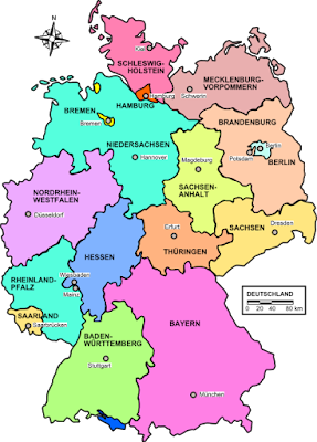 Climbing My Family Tree: Modern Map of German States
