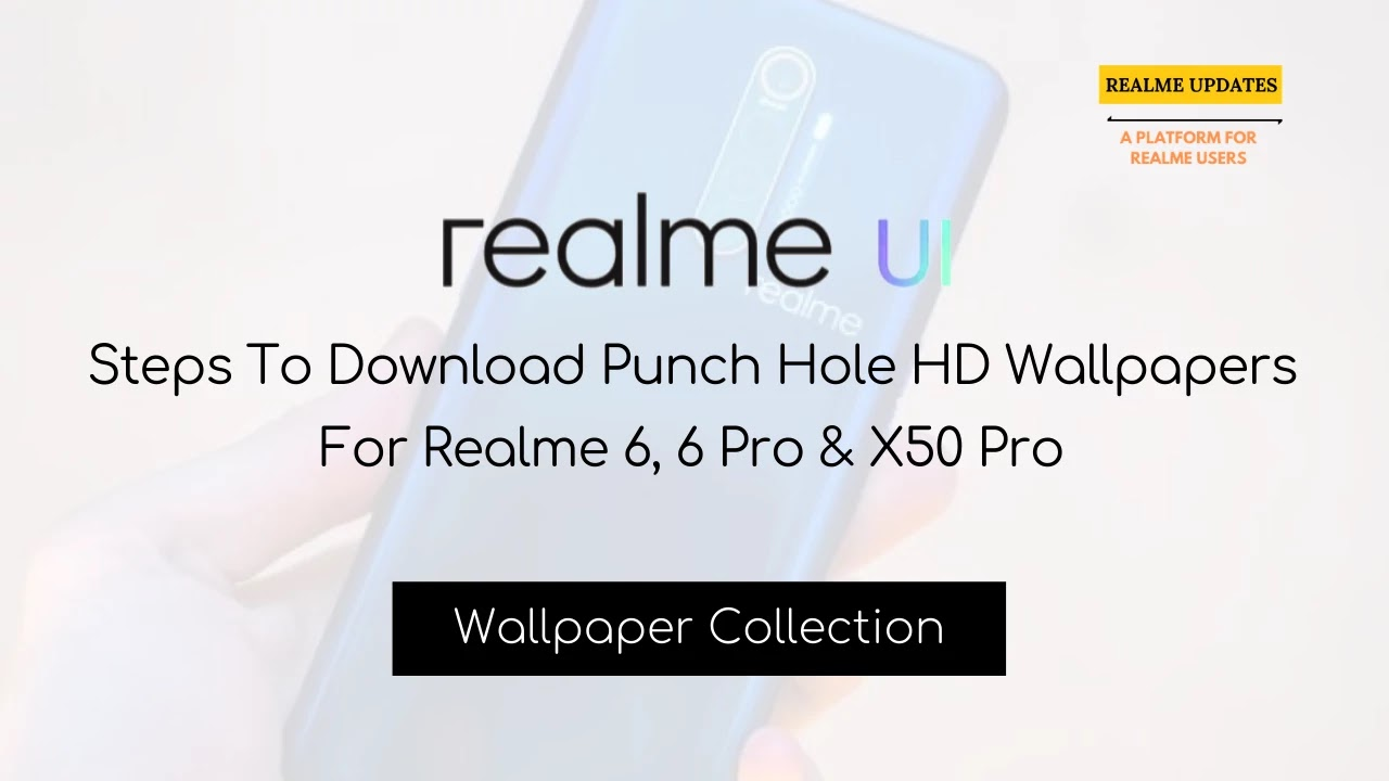 Download Punch Hole HD Wallpapers For Realme 6, 6 Pro & X50 Pro - Realme Updates