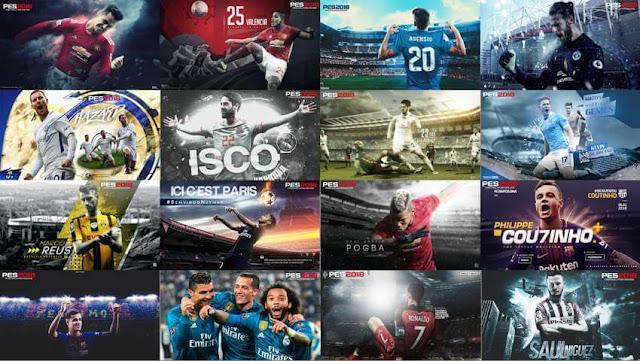 20 Start Screens PES 2018 & PES 2017