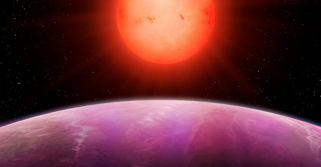 Artist's impression of sunrise on planet NGTS-1b (credit University of Warwick/Mark Garlick)