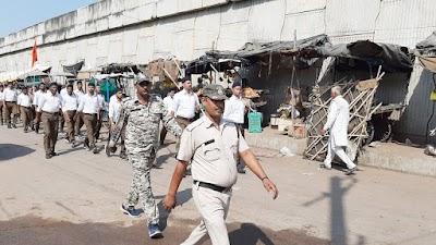 दिनारा में निकला राष्ट्रीय स्वयंसेवक संघ का भव्य संचलन | Dinara News