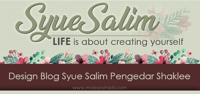 Design Blog Syue Salim Pengedar Shaklee
