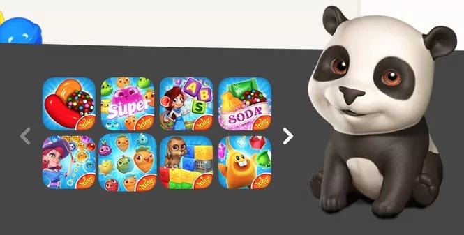 immagine del panda sul sito di king.com dove si pul giocare a candy crush senza facebook