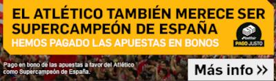 Betfair tambien paga apuestas ganador Atlético Supercopa España 2020