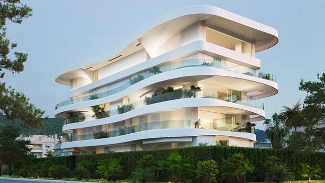Ένα συγκλονιστικό συγκρότημα κατοικιών στη Γλυφάδα έχει πισίνες σε κάθε μπαλκόνι ξεχωριστά