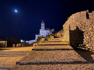 Church of San Pietro - Porto Venere - night soccer